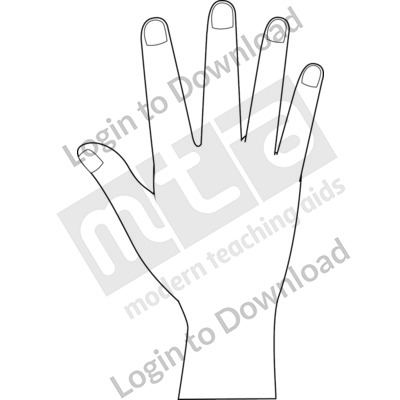 British Sign Language: 5 B&W