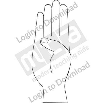 American Sign Language: B B&W