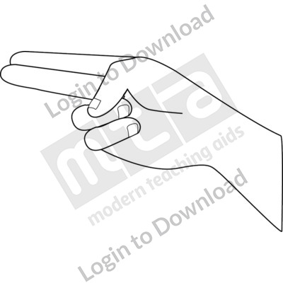 American Sign Language: H B&W