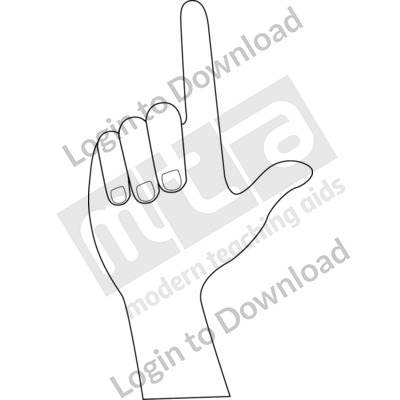 American Sign Language: L B&W