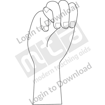 American Sign Language: M B&W