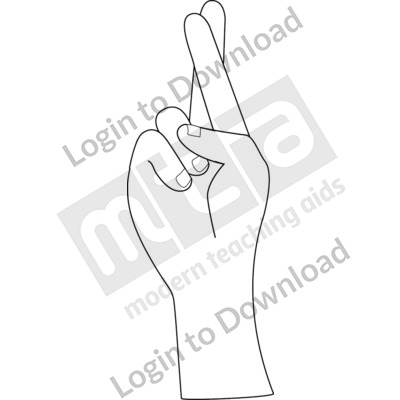 American Sign Language: R B&W