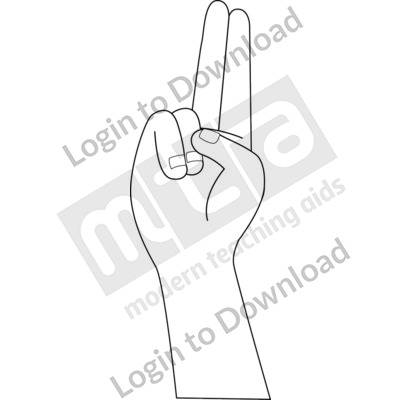 American Sign Language: U B&W
