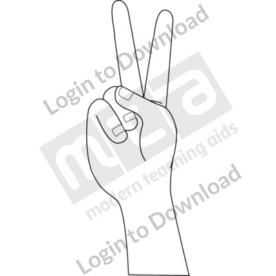 American Sign Language: V B&W