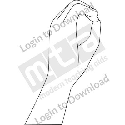American Sign Language: 0 B&W