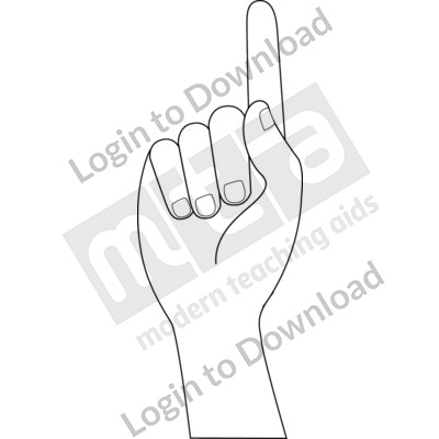American Sign Language: 1 B&W
