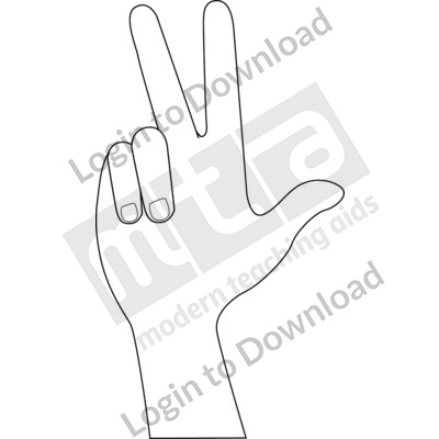 American Sign Language: 3 B&W