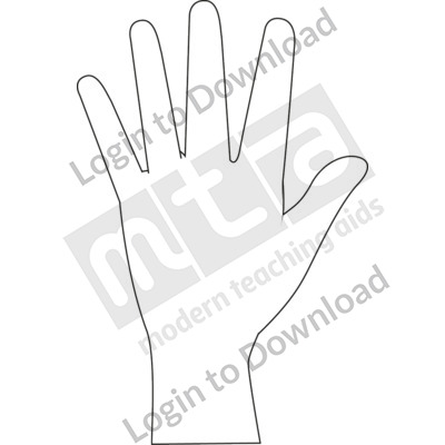 American Sign Language: 5 B&W