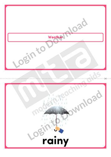 Weather (Portrait 2/page)