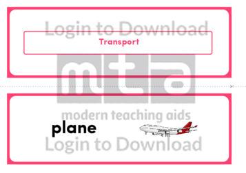 Transport (Landscape 2/page)
