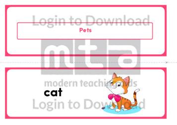 Pets (Landscape 2/page)