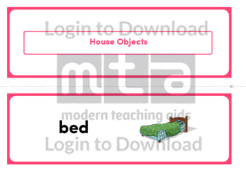 House Objects (Landscape 2/page)