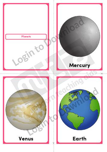 Planets (Portrait 4/page)