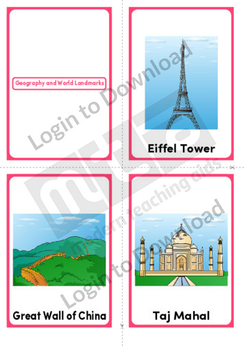 Geography and World Landmarks (Portrait 4/page)
