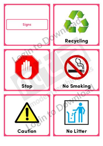 Signs (Portrait 6/page)