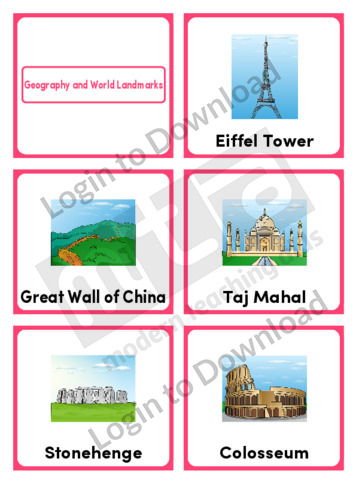 Geography and World Landmarks (Portrait 6/page)