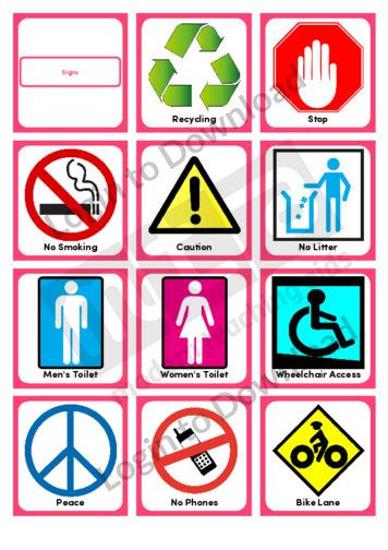 Signs (Portrait 12/page)