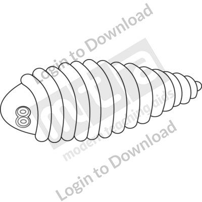 Fly larva B&W
