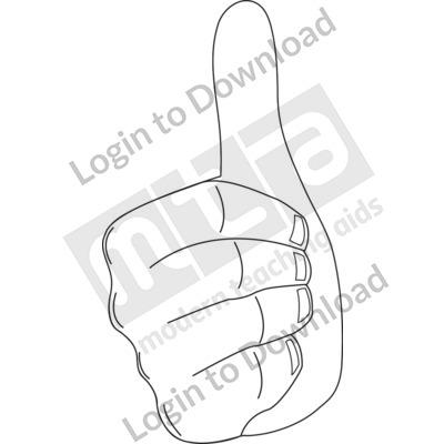 Thumbs up B&W