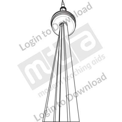 CN Tower Canada B&W