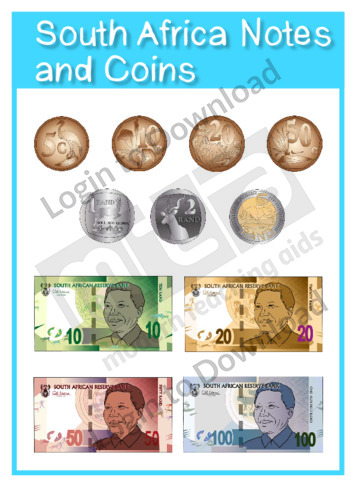 South Africa Notes and Coins
