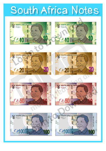 South Africa Notes