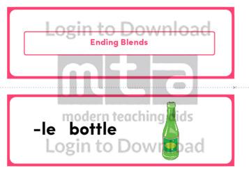Ending Blends (Landscape 2/page)