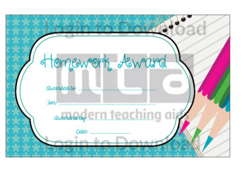 Homework Award 3