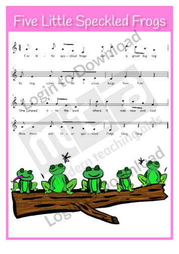 Five Little Speckled Frogs (sing-along)