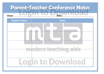 Parent-Teacher Conference Notes