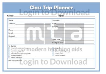 Class Trip Planner