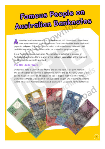 Famous People on Australian Banknotes