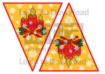 Christmas Bunting: Candles