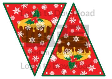 Christmas Bunting: Christmas Pudding