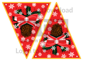 Christmas Bunting: Pine Cones