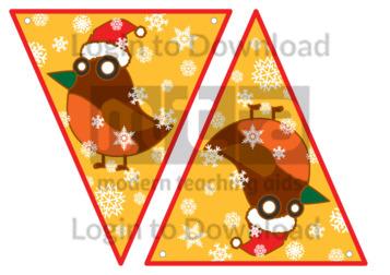 Christmas Bunting: Robin