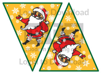 Christmas Bunting: Santa