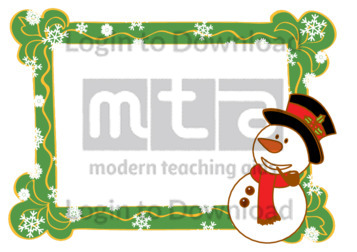 Christmas Photo Frame: Snowman