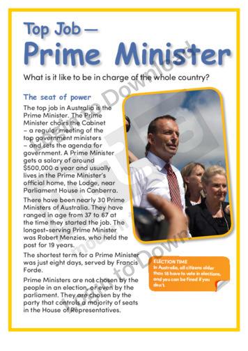 Top Job – Prime Minister