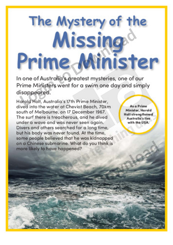 The Mystery of the Missing Prime Minister