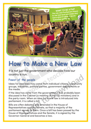 How To Make a New Law