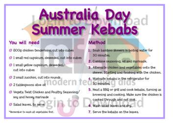 January Recipe: Australia Day Summer Kebabs