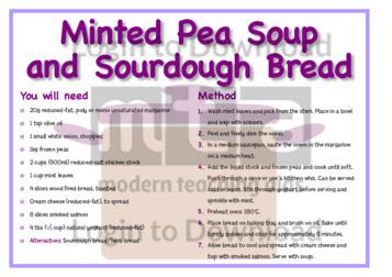 March Recipe: Minted Pea Soup and Sourdough Bread