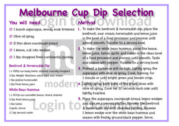 November Recipe: Melbourne Cup Dip Selection