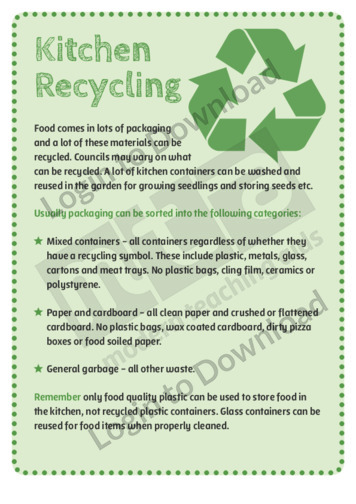 Kitchen Recycling