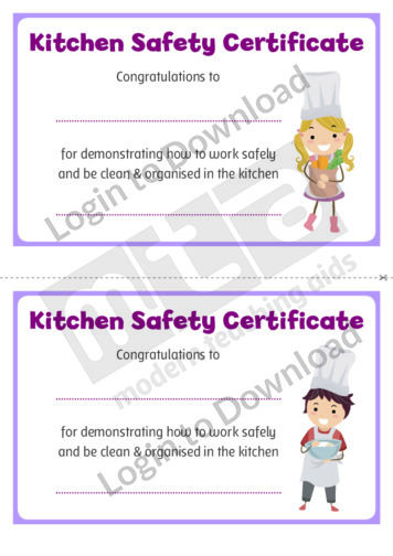Kitchen Safety Certificate