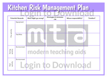 Kitchen Risk Management Plan