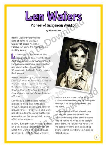 Len Waters: Pioneer of Indigenous Aviation