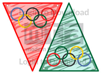 Olympic Ring Bunting Template