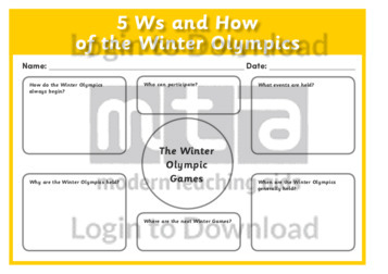 5Ws and How about the Winter Olympics